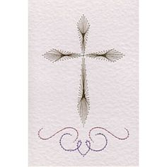 Free Cross with scroll paper embroidery pattern