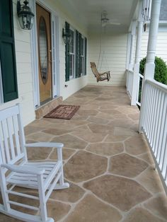 Stamped concrete patterns driveway - Excessive furniture can make any room look cramped and smaller compared to it truly is. A much better option is to position just a few select items of furnishings with clean lines these free up additional space. Concrete Patio Resurfacing, Concrete Coatings, Concrete Pool, Concrete Floors, Stamped Concrete Patterns, Pattern Concrete, Concrete Design, Outdoor Rooms, Outdoor Living