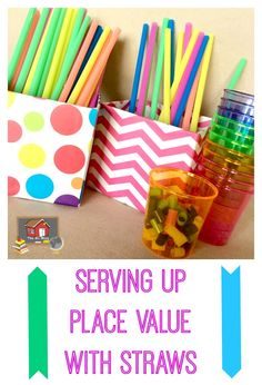 Serving Up Place Value with Straws! Easy way to make your own manipulatives on the cheap! http://www.theorganizedclassroomblog.com/index.php/blog/serving-up-place-value-with-straws
