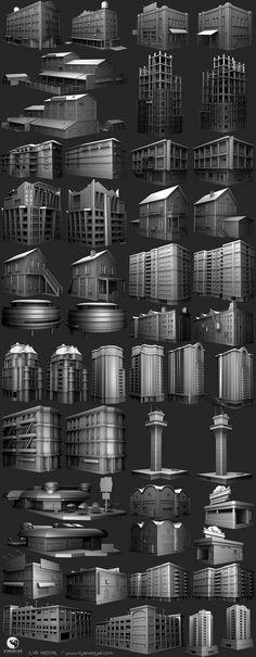 3d Building, Building Exterior, Building Design, Game Environment, Environment Concept Art, Saints Row, 3d Architecture, Game Design, 3d Design