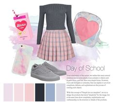 """""""Back to School 🎀"""" by cinthia-alvarez-a on Polyvore featuring Vans"""