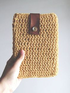 Patron para hacer una funda para ipad a crochet