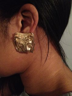 80s Gold Leopard Earrings by Park Lane by InstantVintage78 on Etsy, $30.00