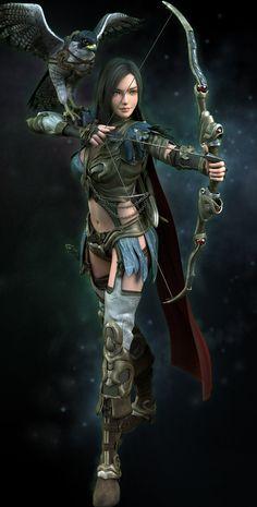 Helena the Archer, Marthin Agusta on ArtStation at http://www.artstation.com/artwork/helena-the-archer