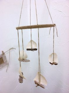 Vintage Inspired Driftwood Sail Boat Nautical Mobile