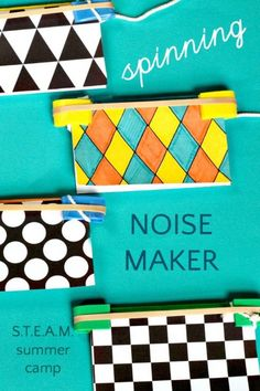 Science experiment for kids. How to make a spinning noise maker.