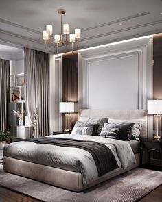 Modern Luxury Bedroom, Modern Bedroom Design, Master Bedroom Design, Luxurious Bedrooms, Bed Design, Master Bedrooms, Bedroom Designs, Bedroom Sets, Home Decor Bedroom
