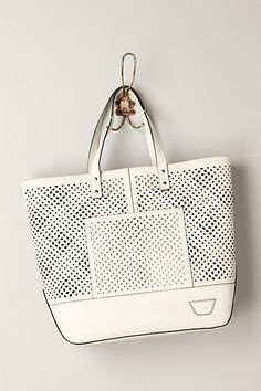 Punched Leather Tote #anthropologie