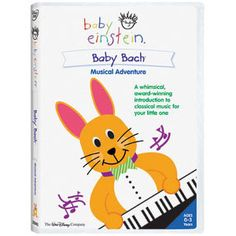 The Baby Bach Musical Adventure video includes 3 sets of musical scales that demonstrate timbre the quality of sound that is distinctive to different instruments. All of Bach's musical pieces included