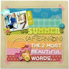 by Amy Heller - like the PP background and the large title / journaling with Thickers.