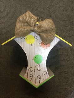 Adorable hanging bird feeder  handcrafted by adults with intellectual and developmental disabilities.