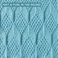 Intermediate Knitting Combining Knit And Purl Stitches : Jeg elsker dette strikkem?nster! Det far alle farver til at tage sig allerbed...