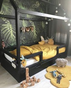 The Most Creative Kids Rooms Ideas (You'll Love with Is your child's room long overdo for a smart makeover? It's time to say bye bye to drab walls and misplaced shoes and hello to a space that invites play Baby Bedroom, Baby Boy Rooms, Nursery Room, Girls Bedroom, Trendy Bedroom, Child's Room, Bedroom Art, Baby Beds, Kids Bedroom Wallpaper