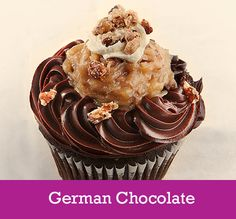 German Chocolate  Cake: Chocolate Filling: German Chocolate Filling  Topping: Ganache, German Chocolate Filling, Vanilla Buttercream and Candied Pecans