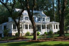 Looking for the best house plans? Check out the Carolina Island House plan from Southern Living. Future House, My House, Farm House, Historical Concepts, Southern Living House Plans, Traditional Exterior, Best House Plans, Classic House, Beautiful Architecture