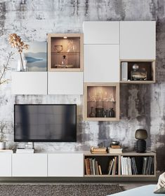 Visit IKEA online and find storage ideas and explore our range of storage furniture. Home Interior, Interior Design, Interior Plants, Ikea Living Room, Fireplace Remodel, Living Room With Fireplace, Home Decor Accessories, Cheap Home Decor, Home Remodeling