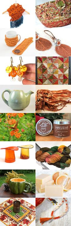 Lovely Etsy Treasury with unique handmade gifts.... Pretty Autumn Basket.... Fall decorative bowl... Final good bye to treasuries!  by Jutta Glanz on Etsy--Pinned+with+TreasuryPin.com