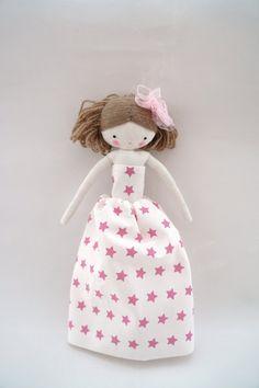 Rag doll handmade princess cloth doll with by lassandaliasdeana