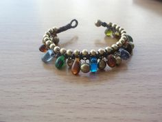 Drop tear glass beads Handmade and brass with bells by Nannapatt