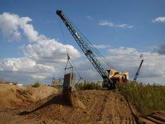 Bucyrus Erie, Heavy Equipment, Shovel, Utility Pole, Earth, Classic, Plants, Derby, Dustpan