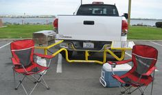 Way back in March we wrote a quick post (/content/gadgets/failed-tailgate-inventions-tailgate-part. Truck Bed Camping, Camping Table, Go Camping, Camping Ideas, Z71 Truck, Ford Trucks, Trailer Hitch Accessories, Truck Accessories, Chevy Colorado Z71