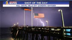 SHOT OF THE DAY: Tuesday's storm at the Avalon Fishing Pier.  Sandra took a pretty amazing shot didn't she?