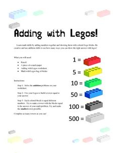 Daily 5 Math Idea!  My kids will love it because they love Legos.