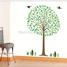 2014 Special design Cartoon Happy tree PVC Wall Sticker Wall Decal Wallpaper Room Sticker