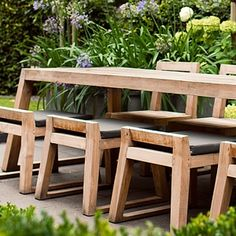 Teak garden benches have always been a popular choice of teak furniture with multiple designs to fit your taste.