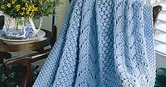 Fan Knit Afghan This Knit pattern / tutorial is available Full post: Fan Knit Afghan