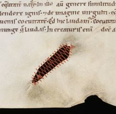 Halloween (4): Stabbed, cut and stitched back together  You are looking at medieval parchment - animal skin - that was stabbed, cut and stitched up. Preparing animal skin, the first step in producing a medieval book, was challenging. The parchment...
