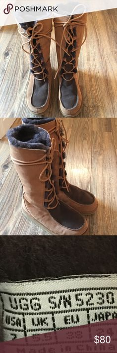 UGG Australia Sheepskin Lace Up Moccasin Boot 7 UGG Australia Sheepskin Lace Up Moccasin Boot Whitley size 7. Only worn 3 times. I am the original owner. Boots do not come with original box. Mocha and chestnut - color UGG Shoes Lace Up Boots