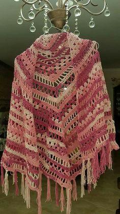 Pink shawl - jacket