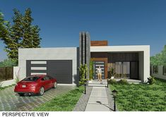 Single Family Homes project in MOOLOOLABA, AU designed by Raphaël Varane - Modern Australian house facade Best Modern House Design, Modern House Plans, Small House Plans, Flat Roof House, Facade House, House Front, House Plans South Africa, Residential Building Design, Beautiful House Plans