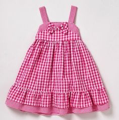 Toddler Gingham Sundress with Bow and Ruffle Trim #totsy $11.99