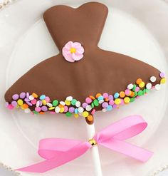 Tutu shaped Magical Cookie Wand from Christy's Gourmet Gifts. Belgian chocolate-dipped vanilla sugar #cookie. Dancers will love this as a gift! #dance #gift