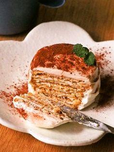 ティラミス風✽簡単ビスケットケーキ