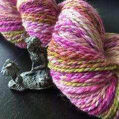 Handspun Hedgehog Fibres Merino Silk Sparkle
