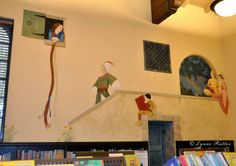 children's library mural | Library Children's Room Mural completed!