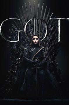 Arya Stark sits on the Iron Throne in the poster for Game of Thrones Season 8 Arte Game Of Thrones, Game Of Thrones Facts, Game Of Thrones Quotes, Game Of Thrones Funny, Game Of Thrones Posters, Game Of Thrones Arya, Game Of Thrones Characters, Cersei Lannister, Daenerys Targaryen