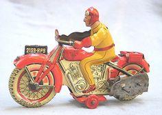 Tin Motorcycle from paris/ebay