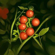 Cherry tomatoes (study work) by Yu-koi.deviantart.com on @DeviantArt