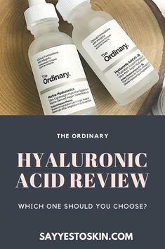 A comparison between The Ordinary's Marine Hyaluronics and Hyaluronic Acid 2% + B5 The Ordinary Hyaluronic Acid Review, Beauty Skin, Skincare, Pure Products, Makeup, Make Up, Skincare Routine, Skins Uk, Skin Care