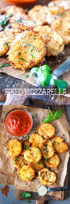 Fried mozzarella is pure cheese heaven! Pair with crisp lagers and dunk in warm mozzarella. Source by craftbeering Mozzarella, Cheese Appetizers, Appetizer Recipes, Delicious Appetizers, Dip Recipes, Healthy Eating Tips, Clean Eating Snacks, Mini Hamburgers, Kitchens