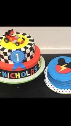 Mickey and the Roadster Racers Birthday Cake