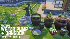 "ohmysims404:  "" Functional Fountain Water Pump  • As seen in the picture, it works like any EA sink. I intended not to remove the washing dishes interaction by modding object tuning. So chances are your sims will try to wash dishes using the water..."
