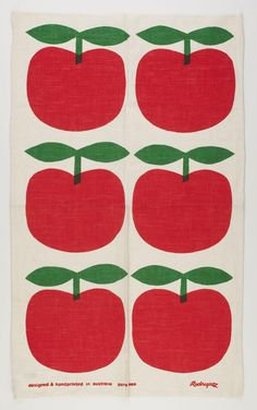 Tea Towel - John Rodriquez, Red Apples, post via Museum Victoria