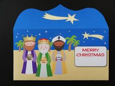3 Wise Men Money Wallet Merry Christmas on Craftsuprint designed by Eva Cano - made by Valerie Spowart
