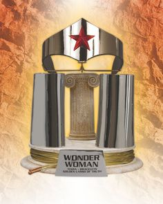 JLA Trophy Room: Wonder Woman Tiara, Bracelet, Golden Lasso Of Truth