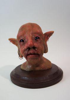 Polymer Clay Fairies and Elves | Polymer Clay Goblin Bust - Statue- Sculpture - Fantasy - Fairy ...